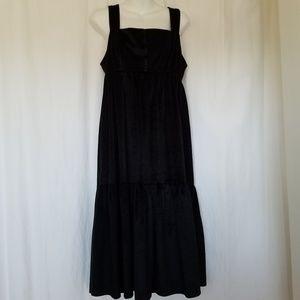 Vintage Mary Martin Velvet Babydoll Prairie Dress